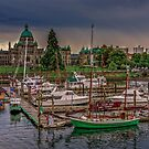 Harbor and Parliament Building by dbvirago