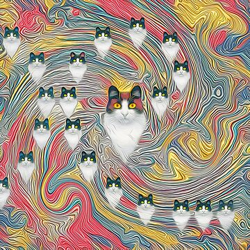 Abstract fibonacci cats by blackhalt