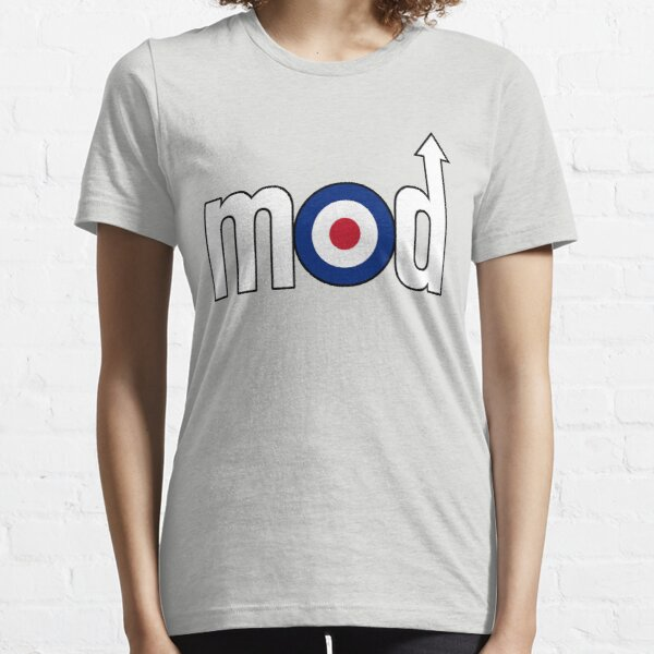 Mod Logo with Arrow, White (Medium) Essential T-Shirt