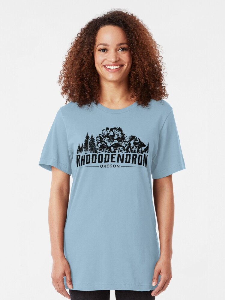 Alternate view of Rhododendron Oregon Slim Fit T-Shirt