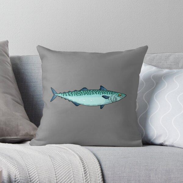 Mackerel Throw Pillow