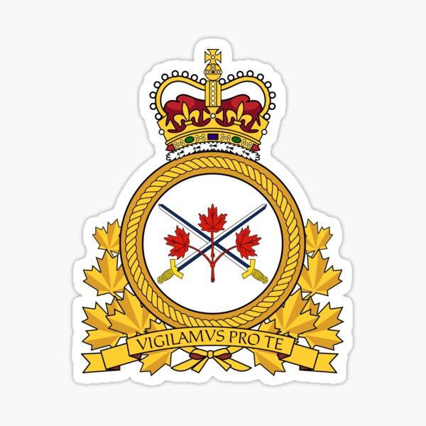 "CANADA CANADIAN ARMY MAPLE LEAF BADGE SWORD 5/"" USA MADE STICKER DECAL"