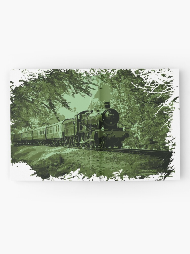 Alternate view of Steam Train in Green Hardcover Journal