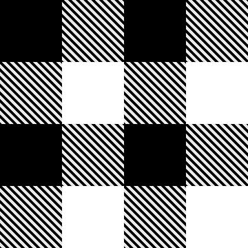 Black White Buffalo Plaid with Twill by YLGraphics