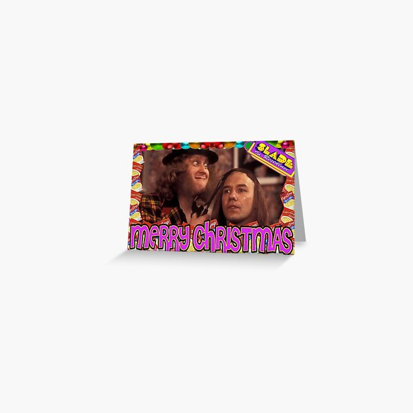 Slade Vic Reeves Christmas Greeting Card