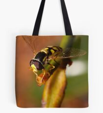 Hoverfly resting Tote Bag