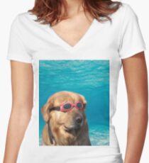 5cb583669f48 Swimming Goggles Dog Women s T-Shirts   Tops