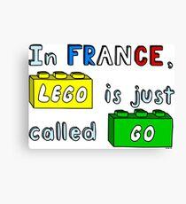 French Lego Canvas Print