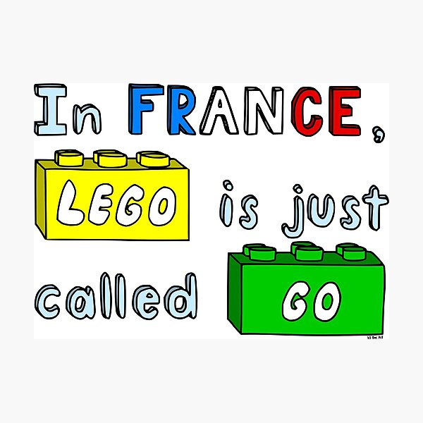 French Lego Photographic Print