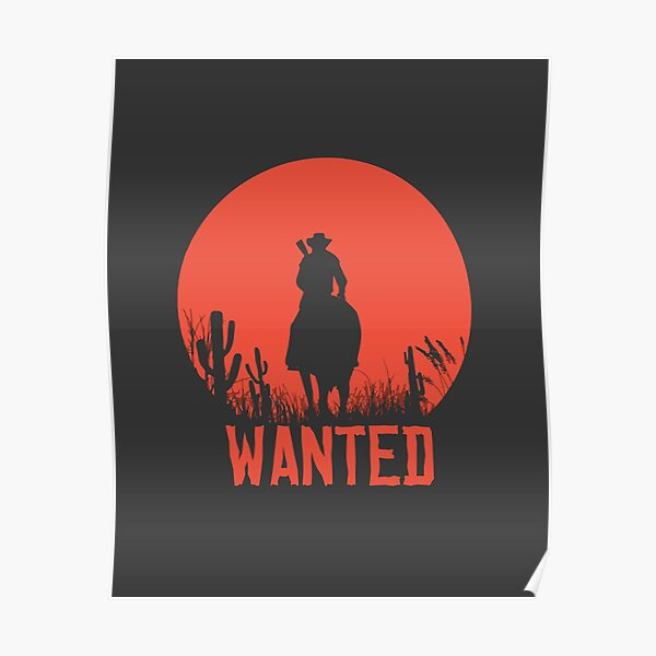 Red Dead Redemption 2 - Wanted Póster