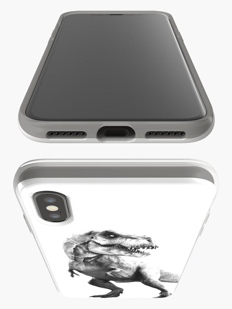 Vista alternativa de Funda y vinilo para iPhone Tyrant Lizard King