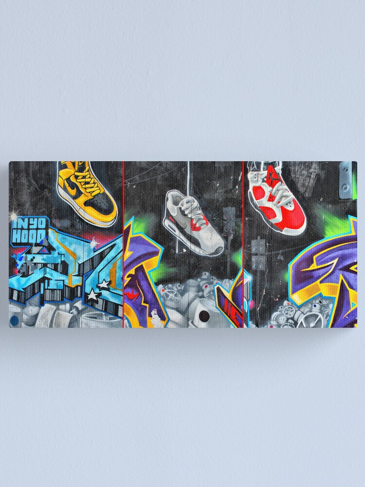 Alternate view of Sneakers. Bondi graffiti Canvas Print