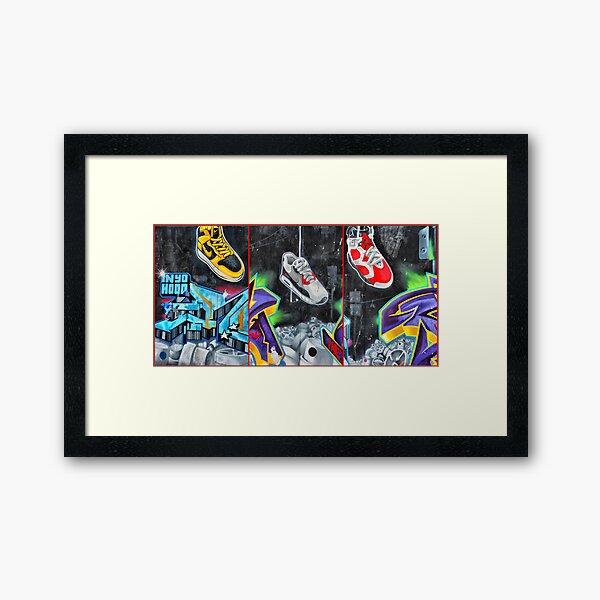 Sneakers. Bondi graffiti Framed Art Print