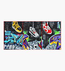 Sneakers. Bondi graffiti Photographic Print