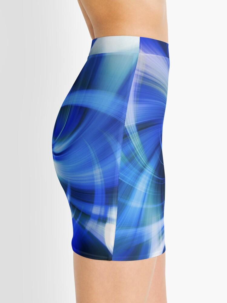 Alternative Ansicht von blauer Wirbel Minirock