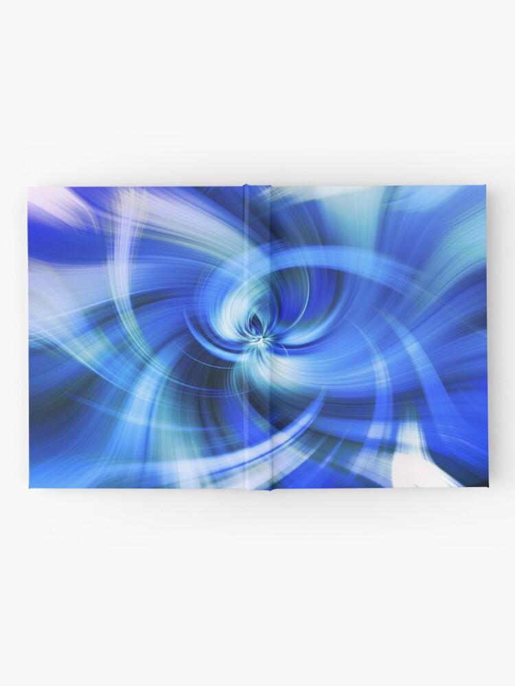 Alternative Ansicht von blauer Wirbel Notizbuch