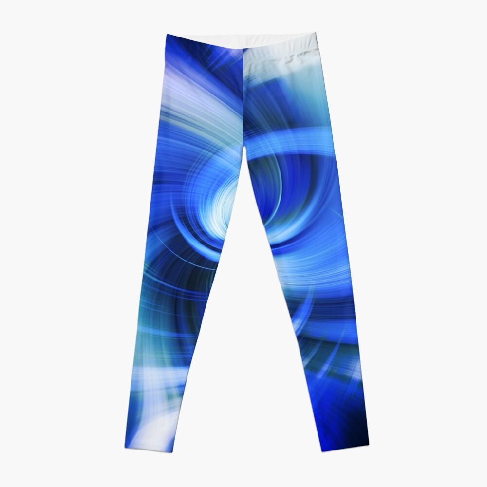 blauer Wirbel Leggings