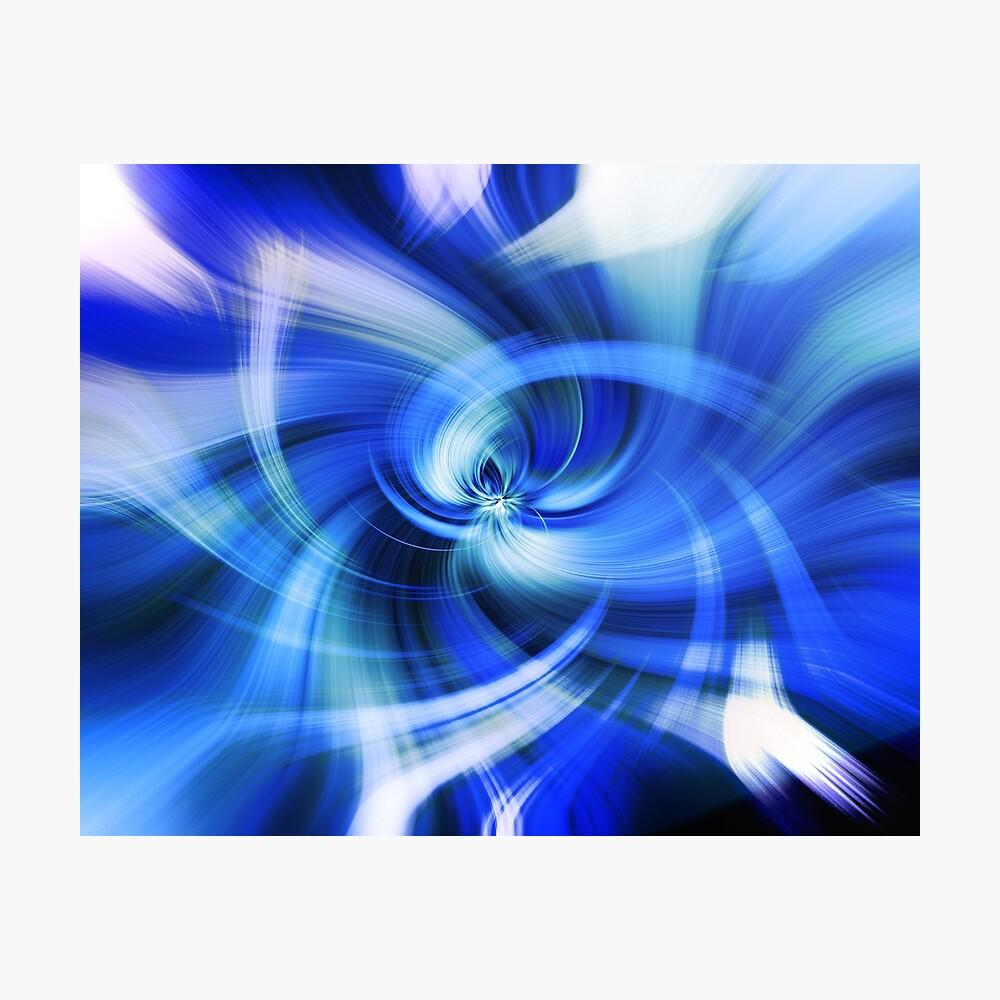 blauer Wirbel Fotodruck