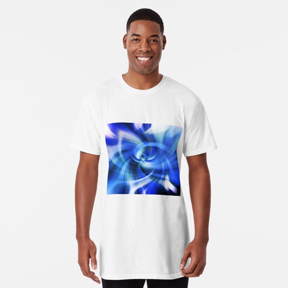 blauer Wirbel Longshirt