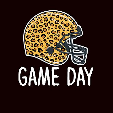 Super Bowl Game Day League Football Player Leopard Helmet by Merchking1