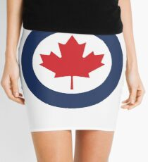Roundel of Canadian Air Force  Mini Skirt
