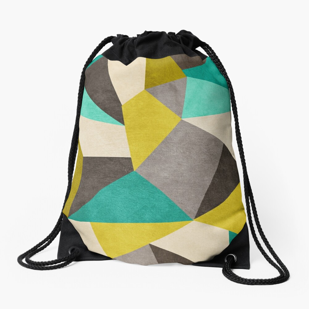 Polygons Drawstring Bag