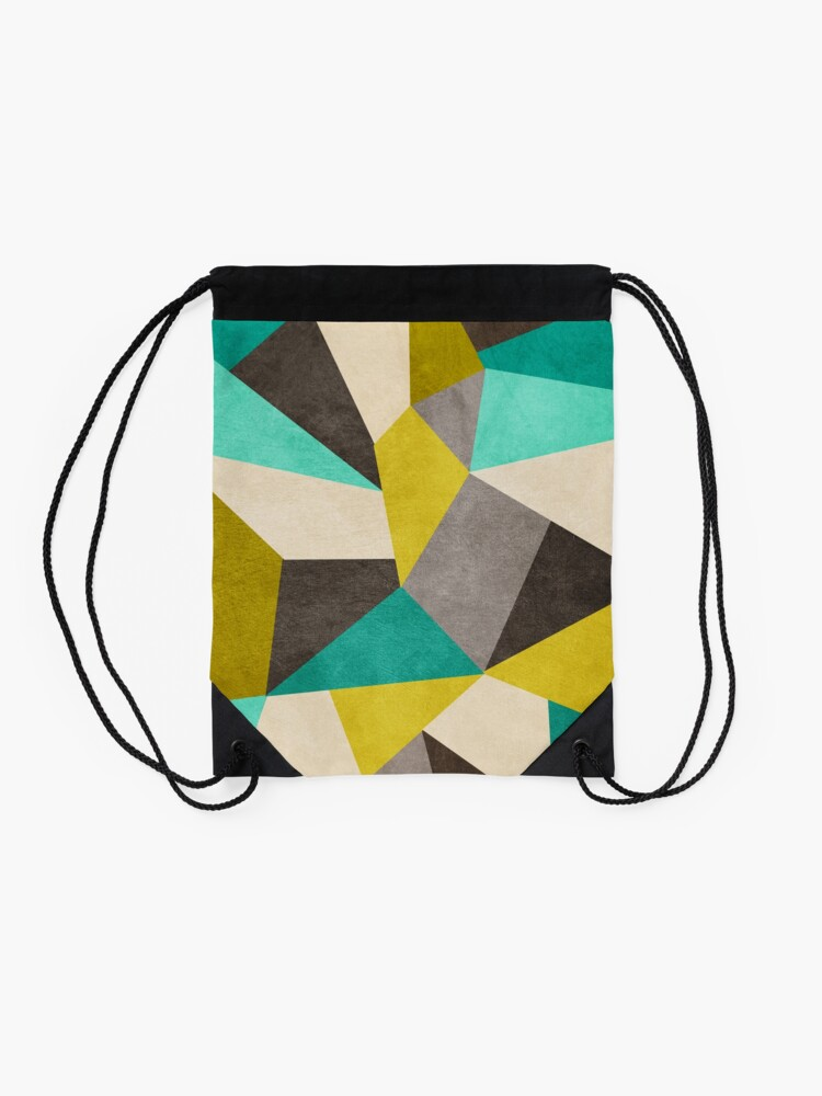 Alternate view of Polygons Drawstring Bag