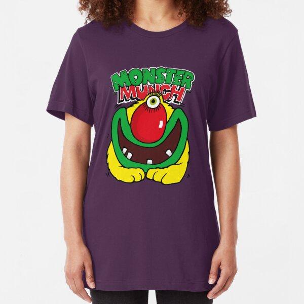 Pickled Onion Monster Munch Retro 80s English Snacks Slim Fit T-Shirt