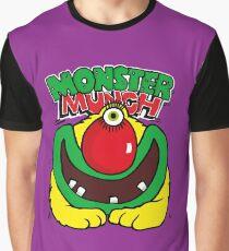 Eingelegte Zwiebel Monster Munch Retro 80er Jahre englische Snacks Grafik T-Shirt
