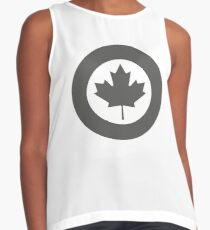 Roundel of Canadian Air Force - Low Visibility  Contrast Tank