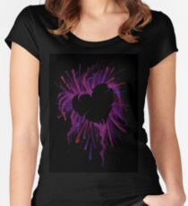 The Heart is Crazy Women's Fitted Scoop T-Shirt