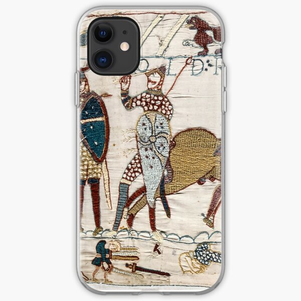 Bayeux Tapestry. King Harold is killed. Arrow in eye. iPhone Soft Case