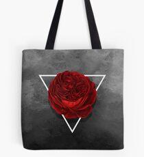 The Rose (black version) Tote Bag