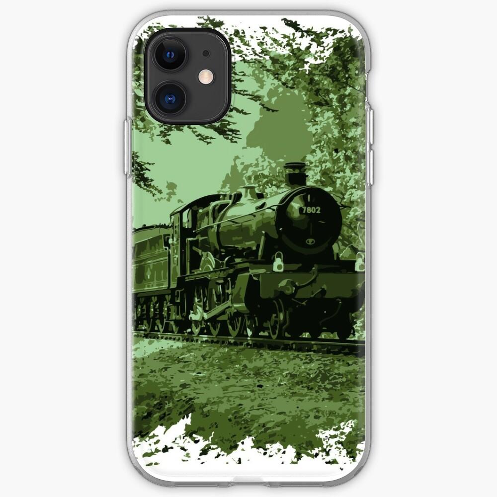 Steam Train in Green iPhone Case & Cover