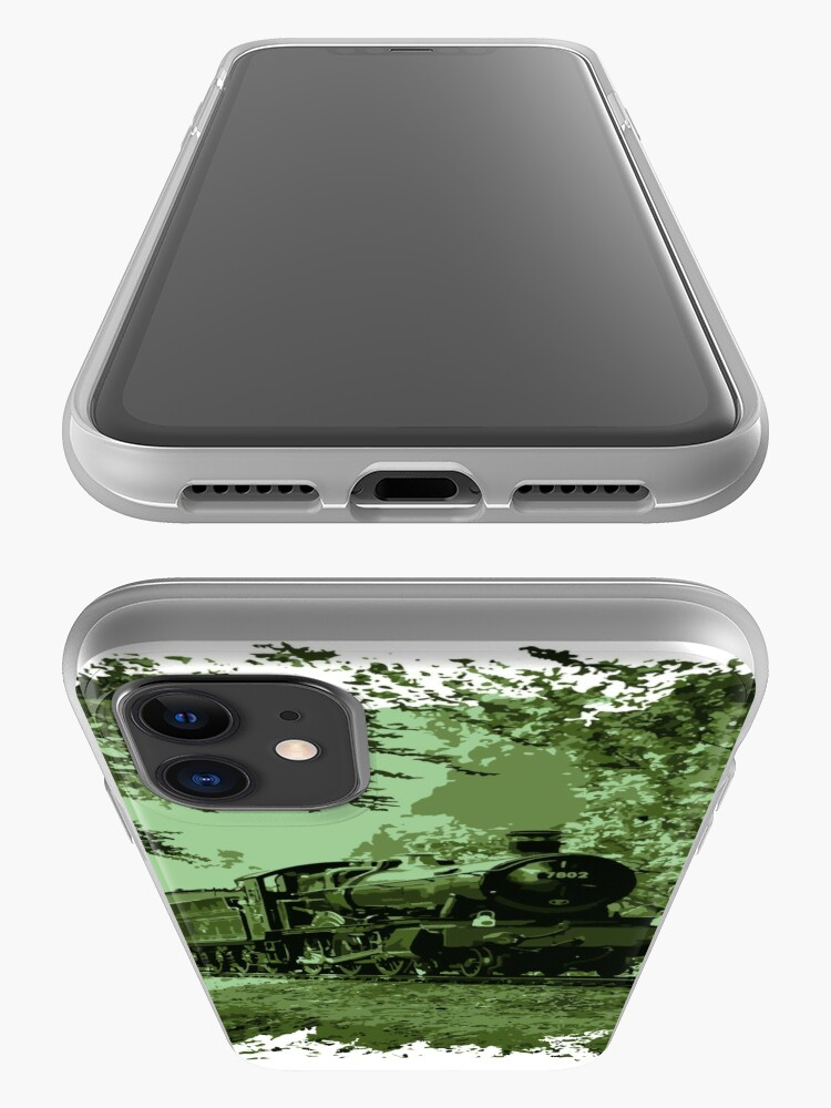 Alternate view of Steam Train in Green iPhone Case & Cover
