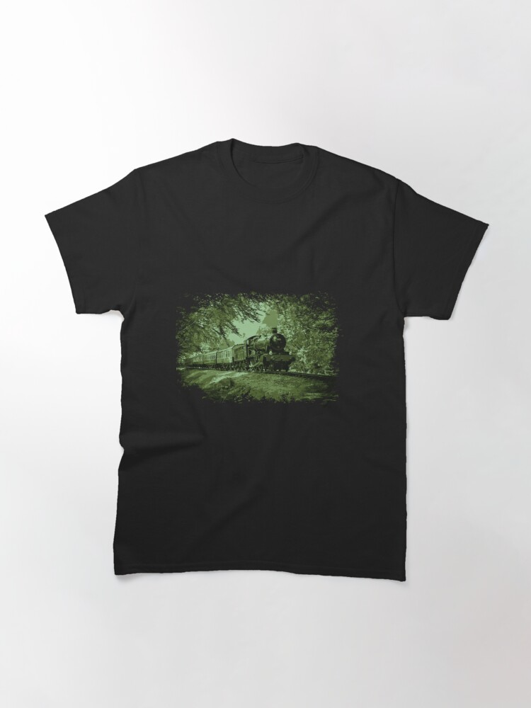Alternate view of Steam Train in Green Classic T-Shirt