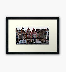 Street Scene - Bruges, Belgium Framed Print