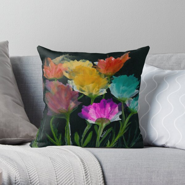 Cadillac Bloom Throw Pillow
