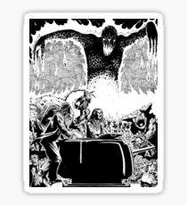 Lava Monster City Burn Horror Art Sticker