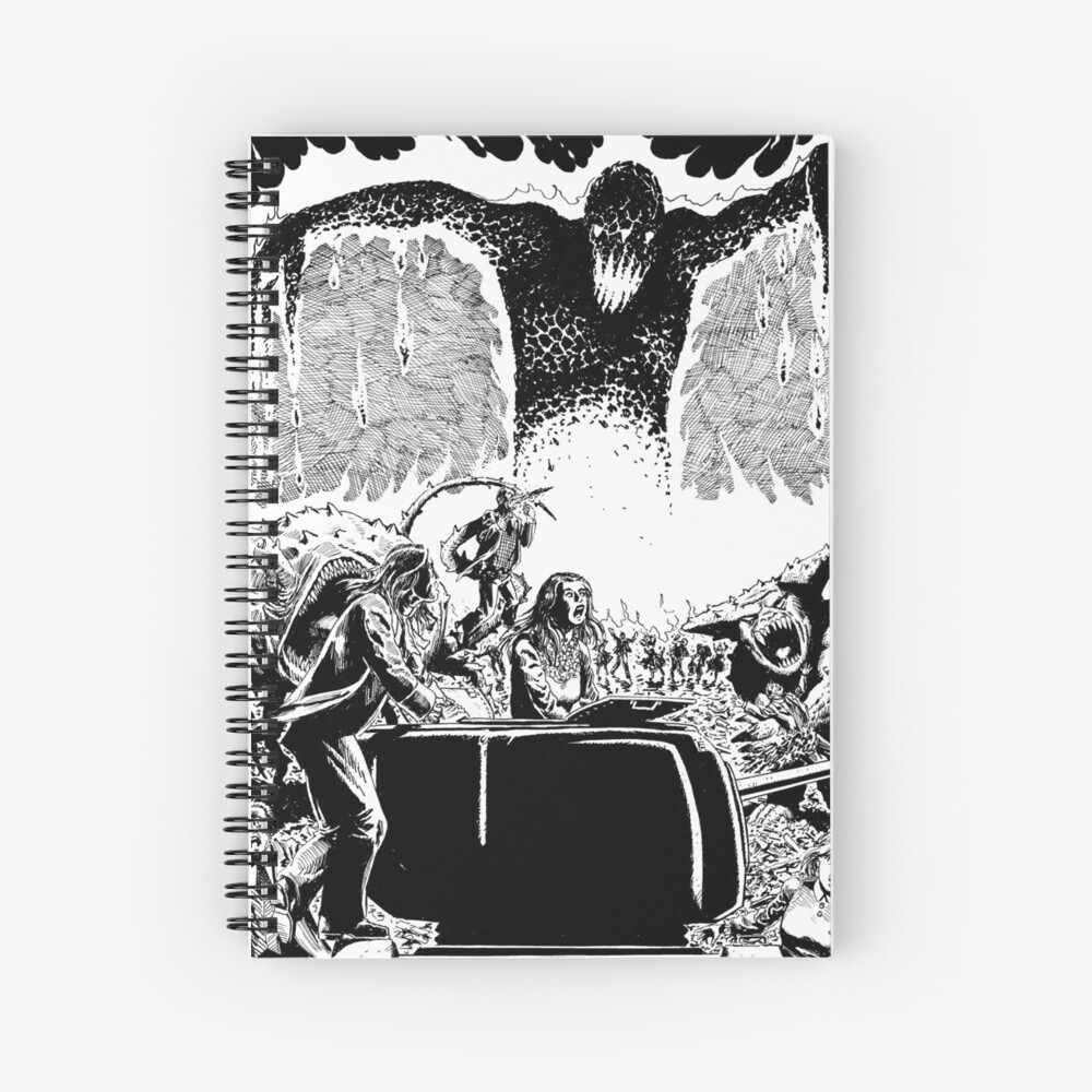 Lava Monster City Burn Horror Art Spiral Notebook
