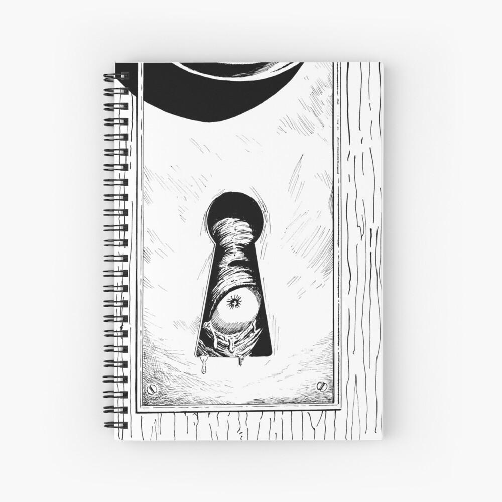 Eye of the Keyholder Horror Art Spiral Notebook