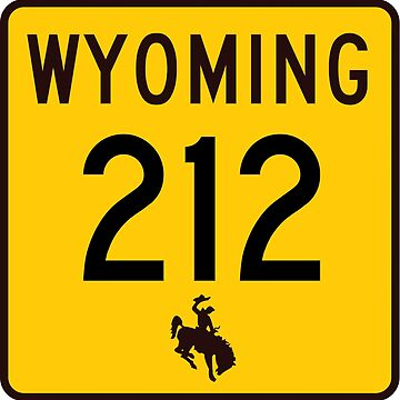 Wyoming Highway WYO 212 | College Drive; Four Mile Road | United States Highway Shield Sign by djakri