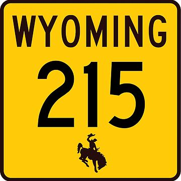 Wyoming Highway WYO 215 | United States Highway Shield Sign by djakri