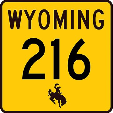 Wyoming Highway WYO 216 | Albin Road | United States Highway Shield Sign by djakri