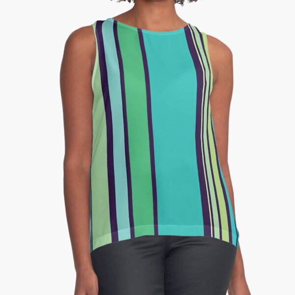 how oceanicaly striping Sleeveless Top