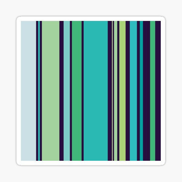 how oceanicaly striping Sticker