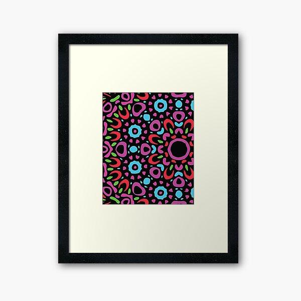 Floral Abstract Multi Colour Mandala 3 Framed Art Print