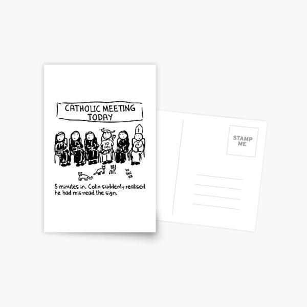 Catholic Meeting Postcard
