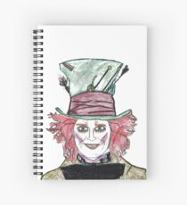 Tim Burton, Hand drawing, Alice in Wonderland, Quotes, Gifts, Presents, Decor, Pencil drawings, Doodles, Cinema, Culture, Hobbies Spiral Notebook
