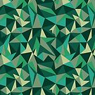 Emerald Origami by Janine Lecour